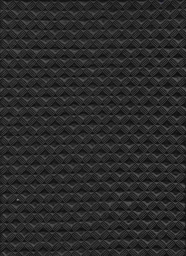 17053 / BLACK / QUILTED FOILED GIO