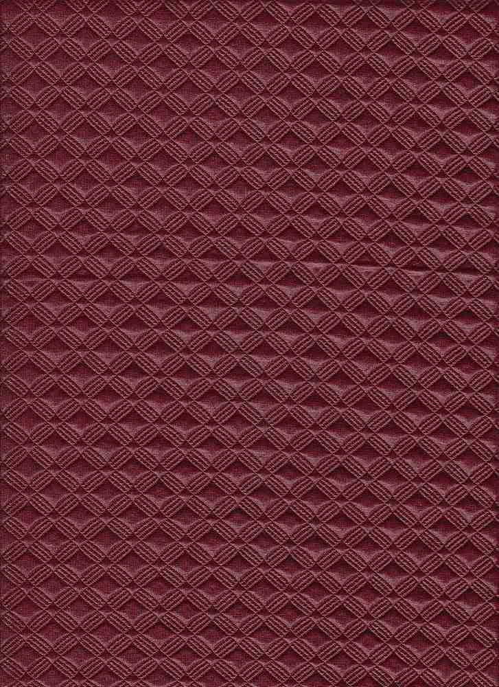 17053 / WINE / QUILTED FOILED GIO
