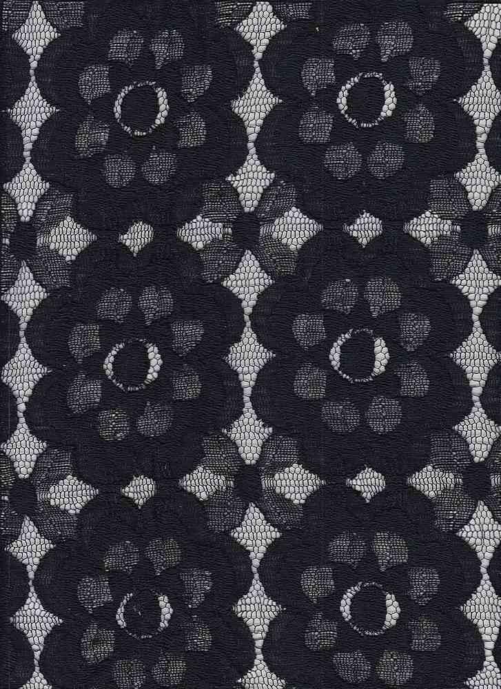 16058 / BLACK / VINTAGE FLORAL LACE