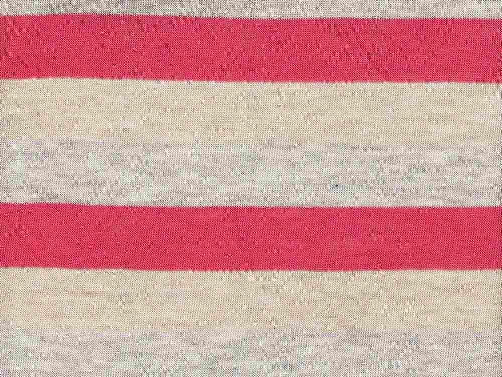 """18261 / CORAL/HG/KHAKI / Baby Hacci 3"""" Stripe"""