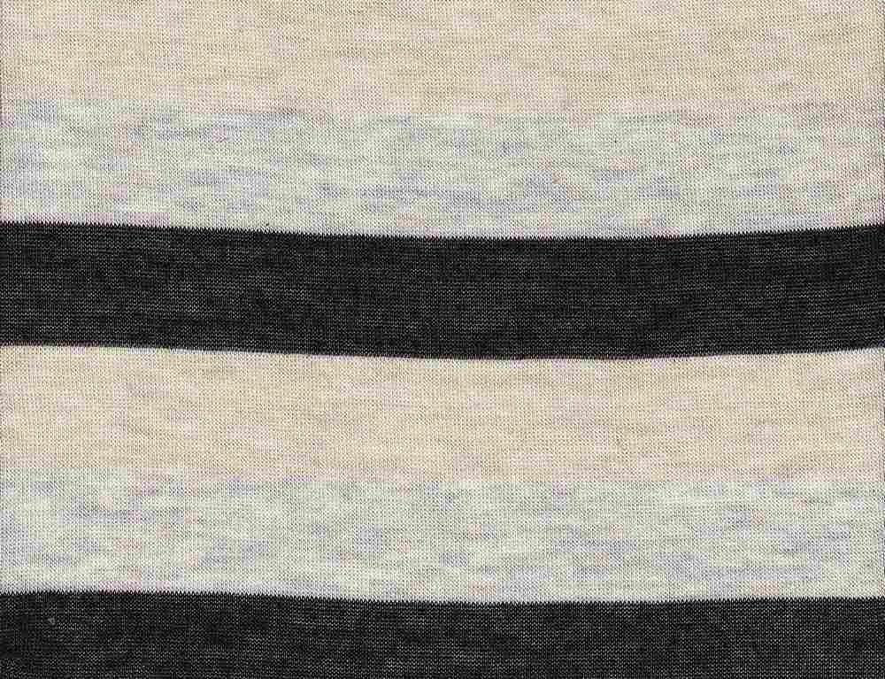 """18261 / BLACK/HG/KHAKI / Baby Hacci 3"""" Stripe"""