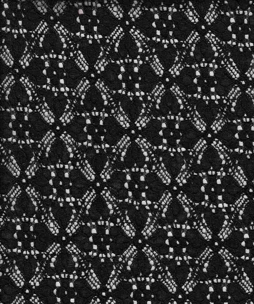 16063 / BLACK / Clover Leaf Lace