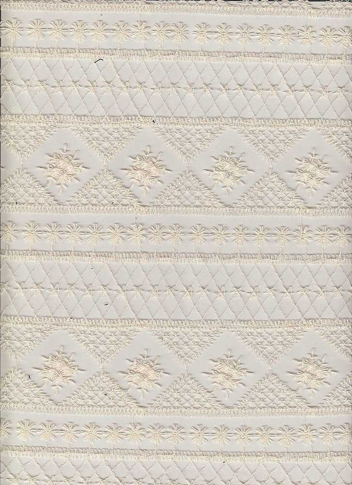 14109 / NATURAL / GEO EMBROIDERY