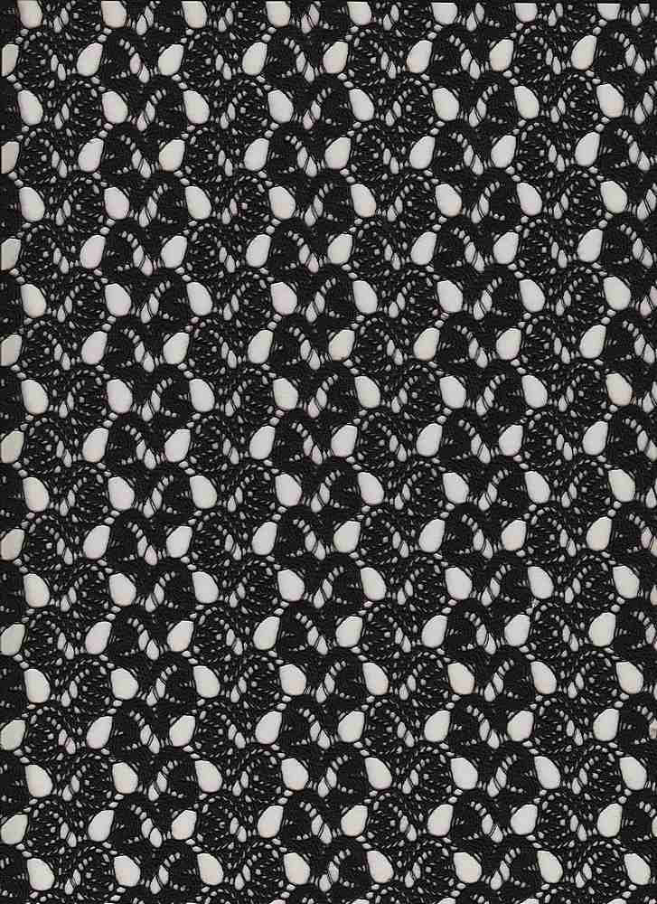 14116 / BLACK / CROCHET WAVES