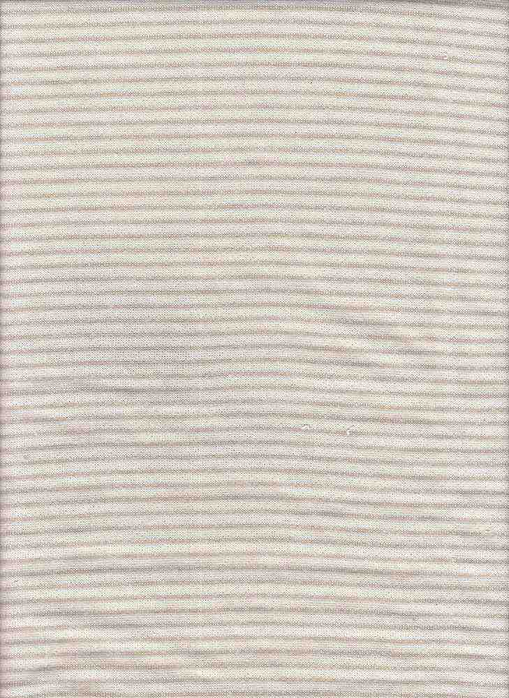 15162 / TAUPE HTR / PIN STRIPE LOOP TERRY