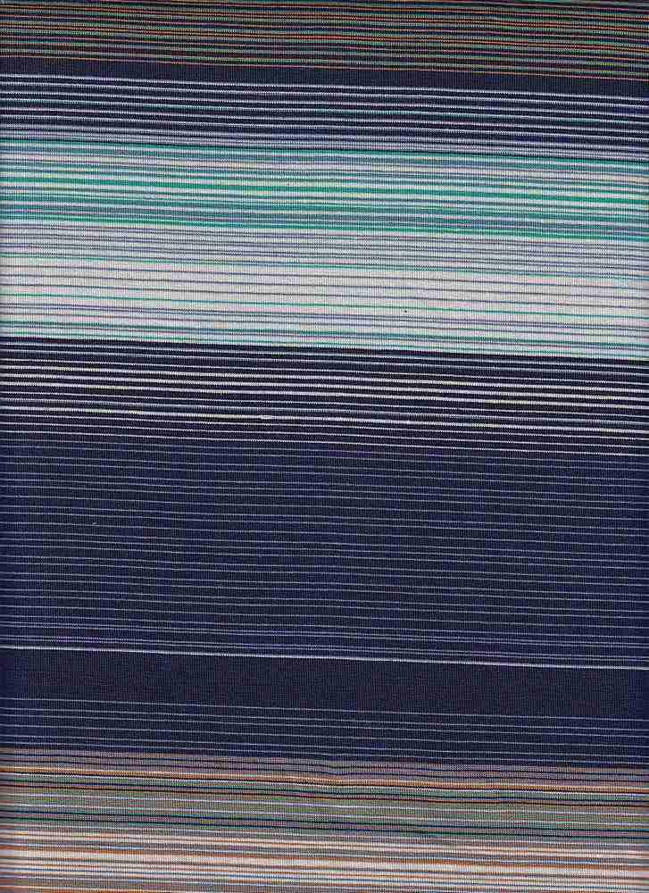 "X20005 / TEAL/DENIM / AUTOMATIC FINE LINES JERSEY STRIPE 12 1/2"""