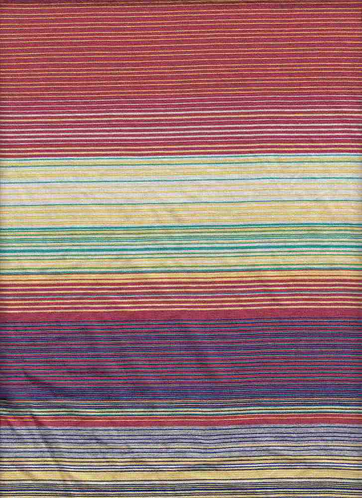 """X20005 / RED/WHT/HTR GREY/TEAL / AUTOMATIC FINE LINES JERSEY STRIPE 12 1/2"""""""