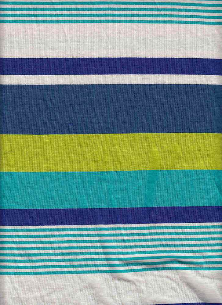 X20003 / BLUE/LIME/TEAL / AUTOMATIC STRIPE JERSEY