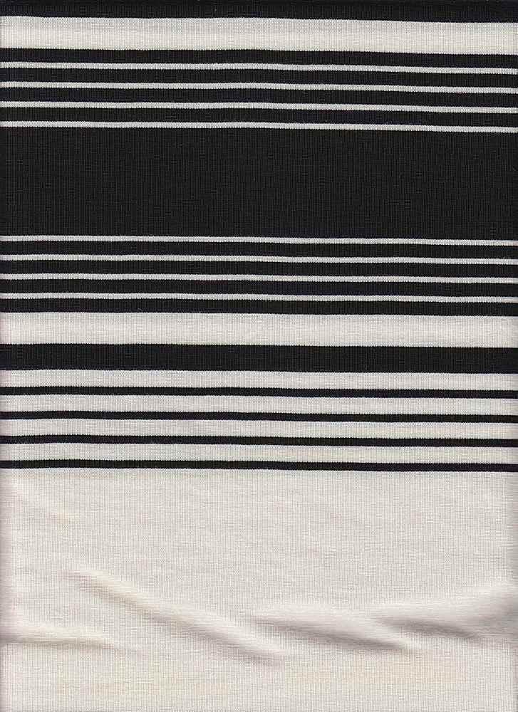 X20013 / WHITE/BLACK / AUTOMATIC STRIPE JERSEY