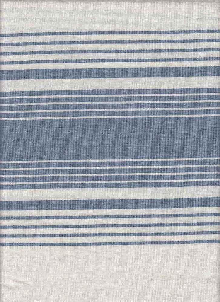 X20013 / WHITE/DUSTY BLUE / AUTOMATIC STRIPE JERSEY