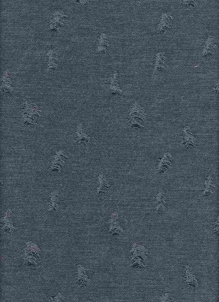18394 / DENIM BLUE / SHREDDED BABY FRENCH TERRY