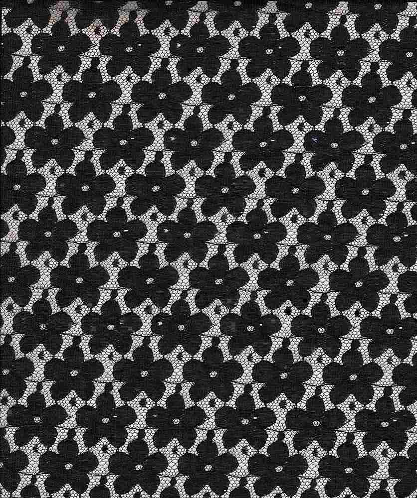 LACE SMLPANSY / BLACK / SMALL PANSY LACE