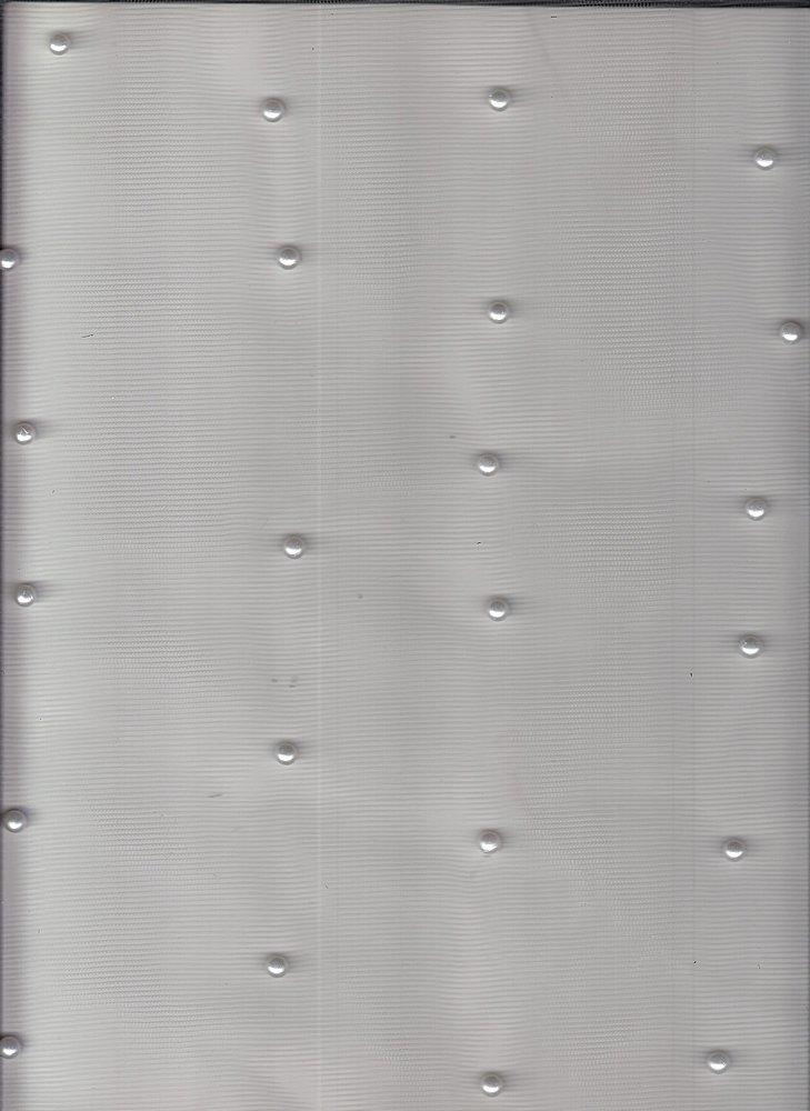 19475 / OFFWHITE W/OFFWHITE PEARL / PEARL NYLON MESH
