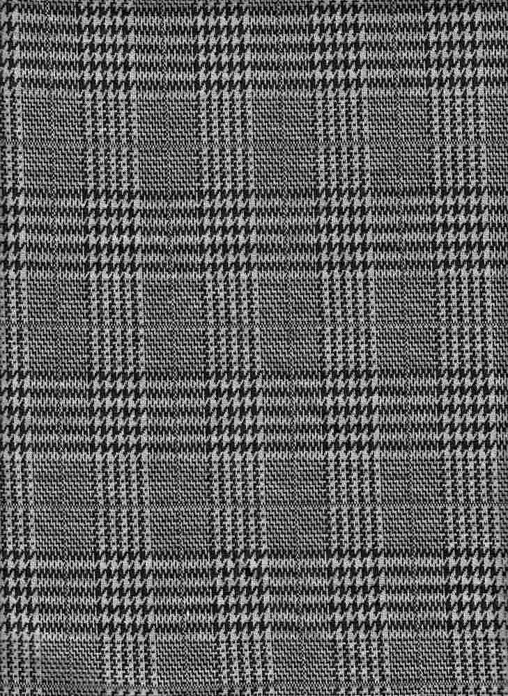 19476-A / BLACK / HOUNDSTOOTH MIX PLAID