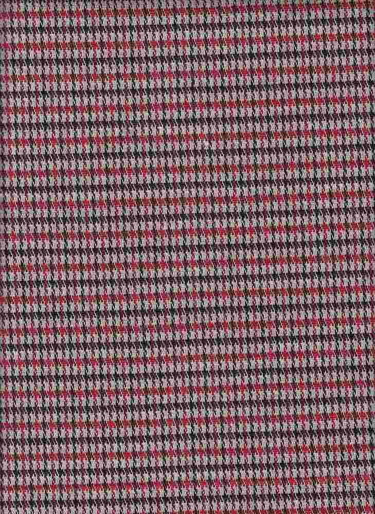 19477-A / BLACK/RED / MINI PLAID COORDINATE