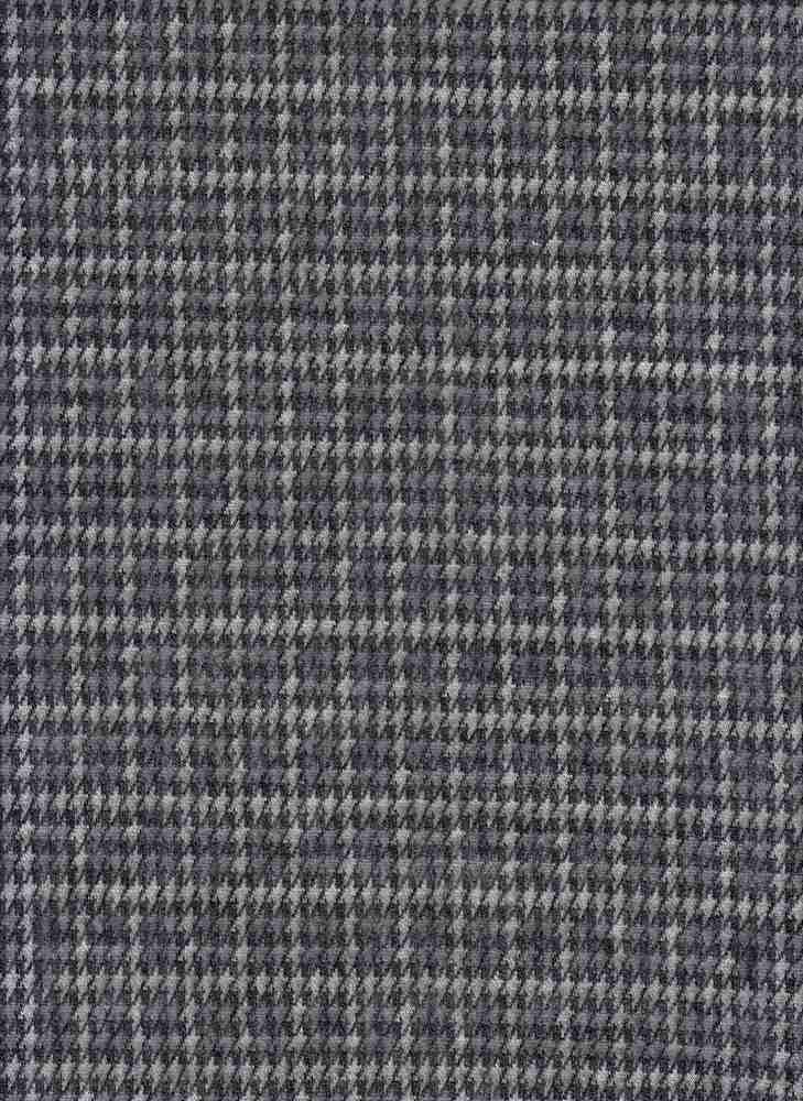 19490 / GRAPHITE / HOUNDSTOOTH PLAID JACQUARD BRUSH