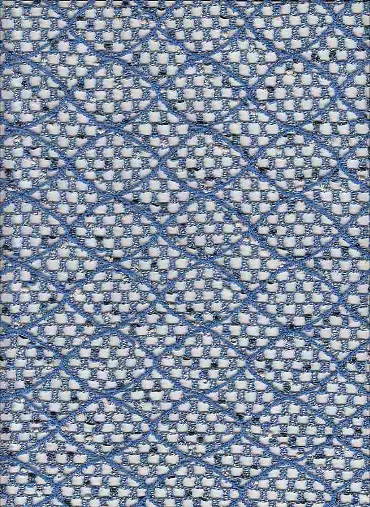 19492 / BLUE / POLY COTTON OPEN KNIT