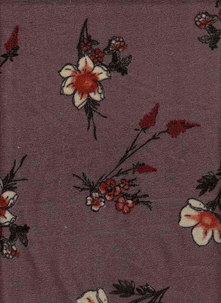 PFLR 10033 / ROSE DUST / WILD FLOWERS PRINT ON CRUSH VELVET