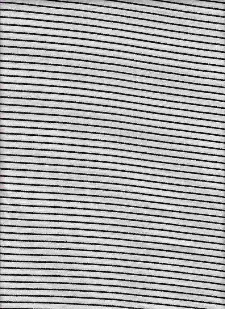 19498 / WHITE/BLACK / RAYON POLY SPAN STRIPE