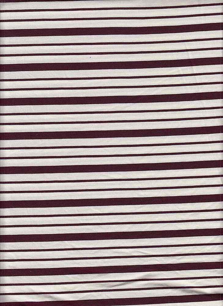19513 / ELDERBERRY/NATURAL / Compact Siro Verigated Stripe