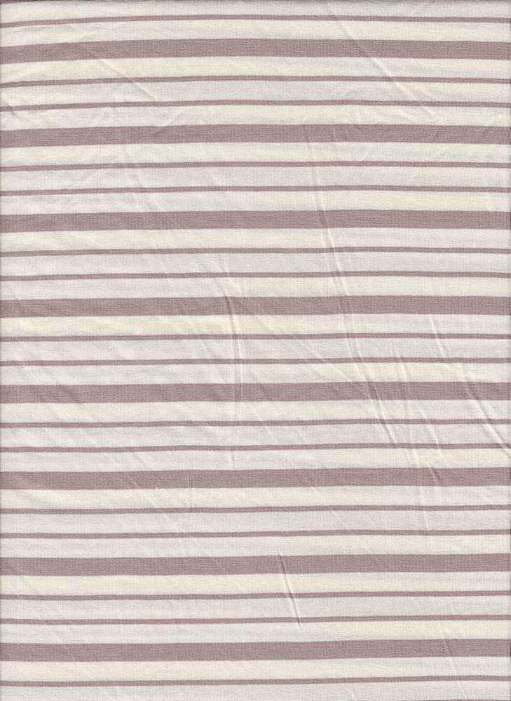 19513 / ROSE DUST/NATURAL / Compact Siro Verigated Stripe
