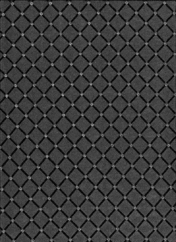 19521 / BLACK/SILVER / DIAMOND GLITTER DOT MESH