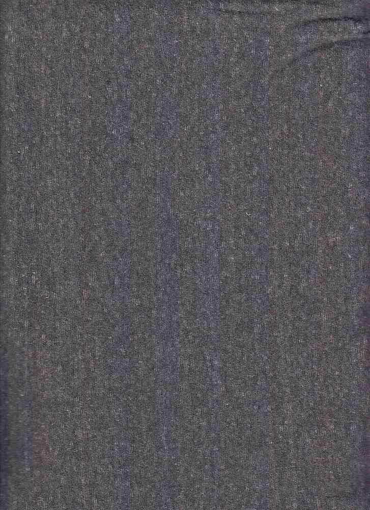 TRIBLEND / BLACK DARK / 50/38/12 POLY COTTON RAYON TRIBLEND
