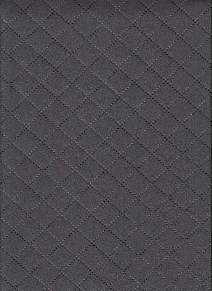 15107 / DARK GRAY / QUILTED LEATHER