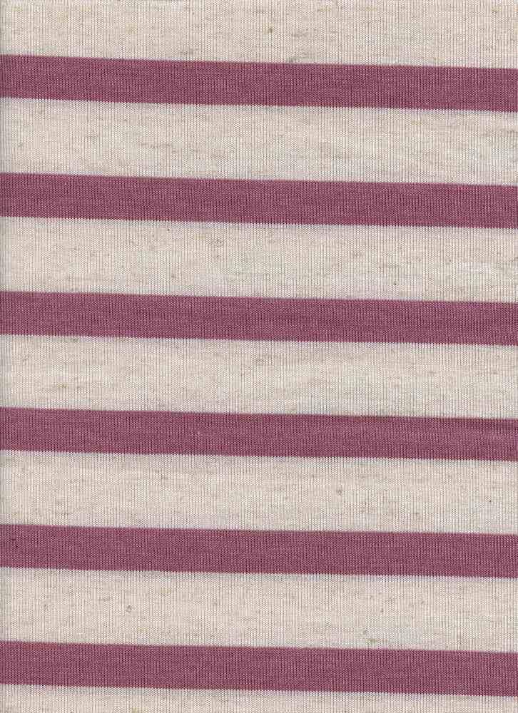 HACCI UNEVENST / LINEN BLUSH HTR / 76/14/6/4 POLY RAYON LINEN SPANDEX UNEVEN STRIPE HL
