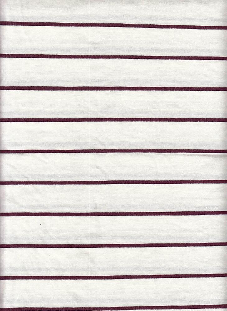 18319 STRIPE / ELDERBERRY/OFFWHITE