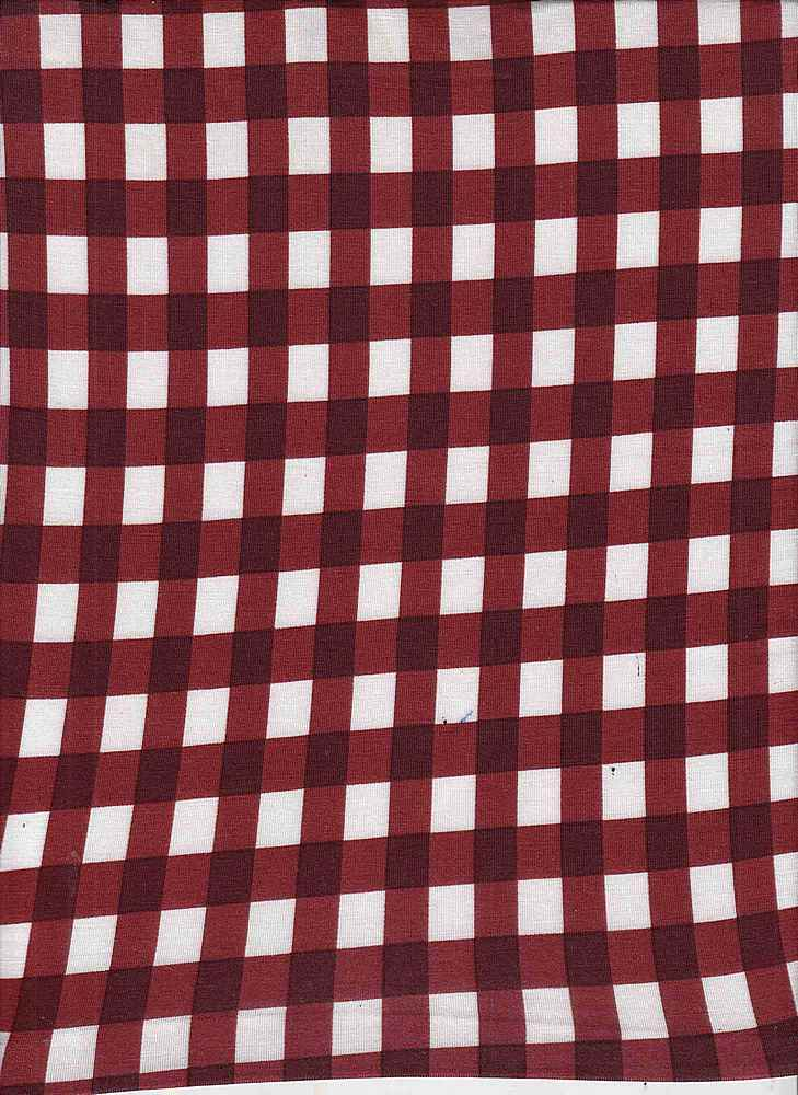 18319 GINGHAM / RED/WINE