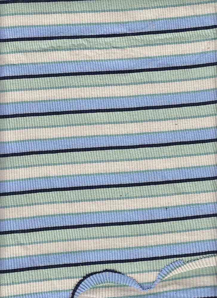 D1065 / BLUE/MINT/IVORY