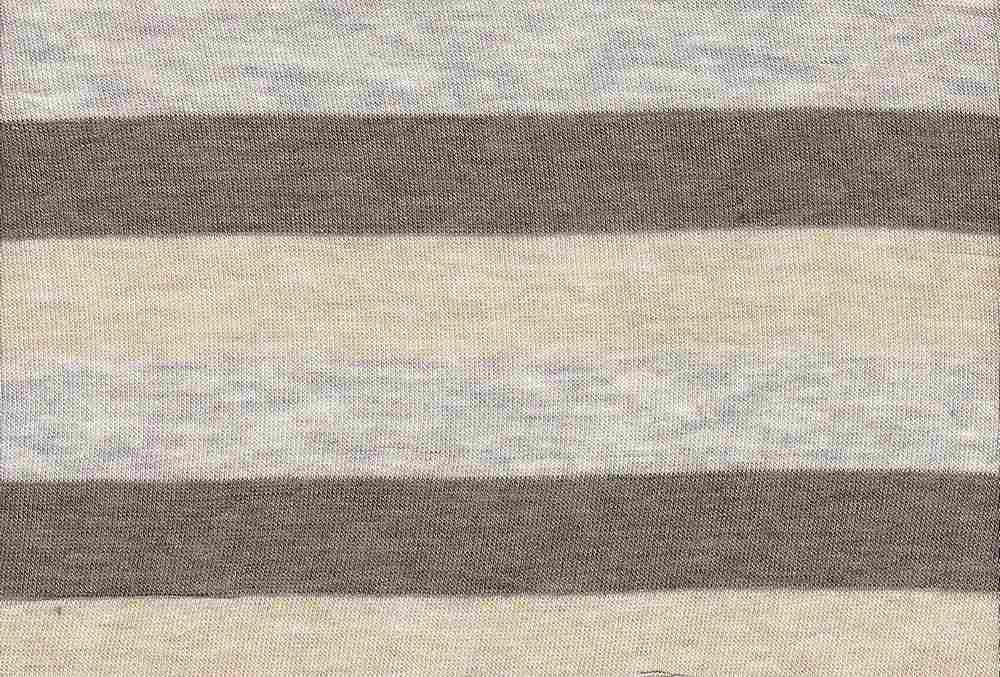 18261 / BROWN/HG/KHAKI / Baby Hacci 3 Line Stripe