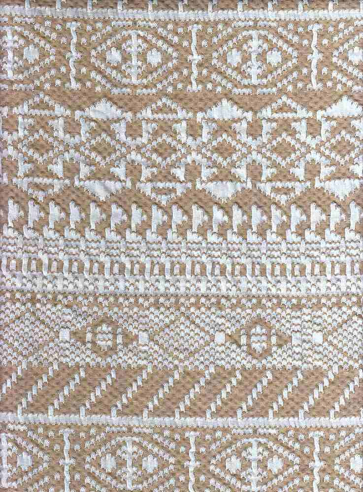17043 / TAUPE/NATURAL / DOUBLE KNIT AZTEC