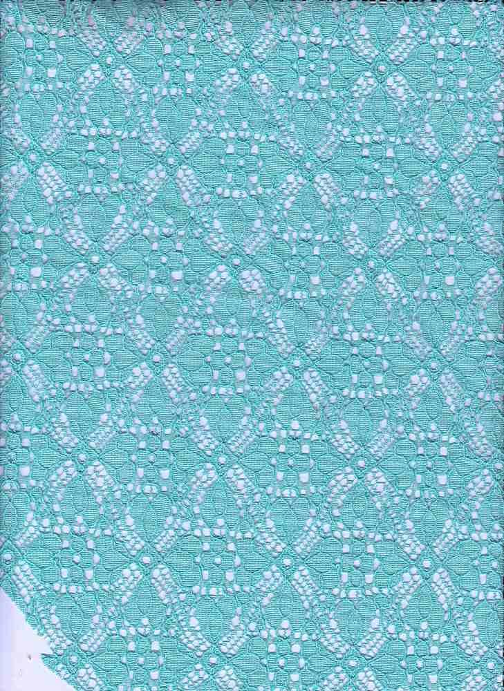 16063 / MINT MOSAIC / Clover Leaf Lace