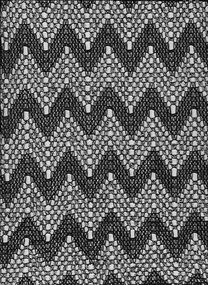 14102 / BLACK/WHITE / ZIGZAG CHEVRON STRIPE MESH