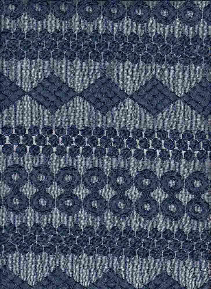 15108 / ESTATE BLUE / GEOMETRIC LACE