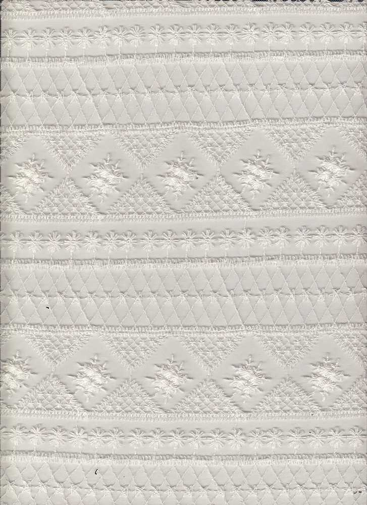 14109 / WHITE / GEO EMBROIDERY
