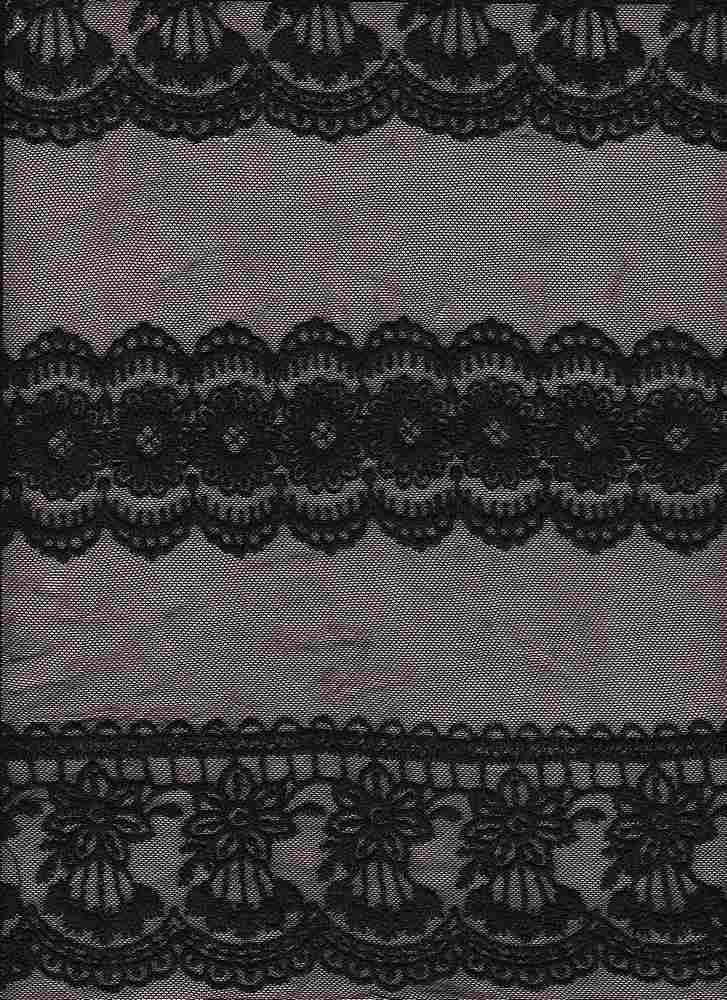 14107 / BLACK / FRENCH EMBROIDERY