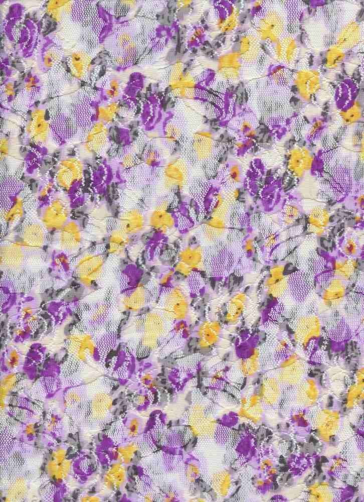 LACE NS FDITSY / PURPLE / 98/2 NYLON SPANDEX LACE DITSY FLORAL