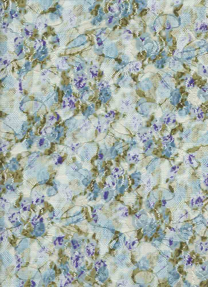 LACE NS FDITSY / TURQ / 98/2 NYLON SPANDEX LACE DITSY FLORAL