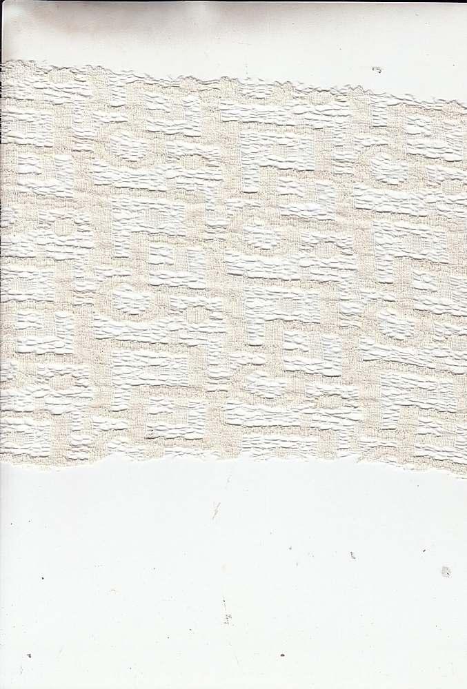 14119 / NATURAL / ABSTRACT LACE