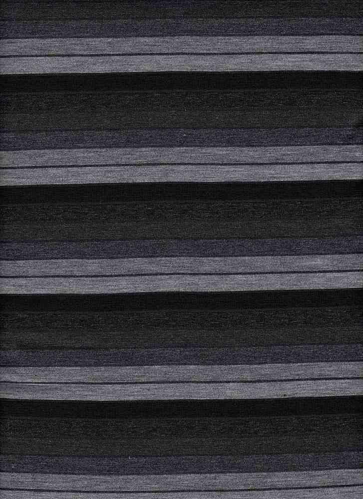 8983 / BLACK / 40/4/56 POLY COTTON RAYON JERSEY OMBRE STRIPE