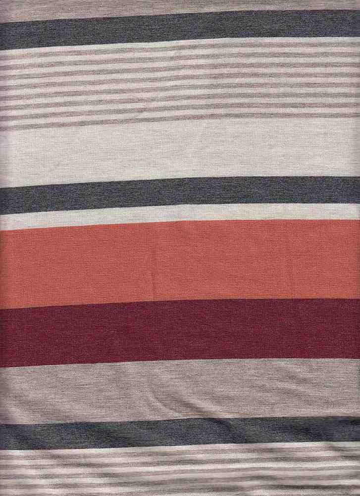 X20003 / MAROON/TAUPE / AUTOMATIC STRIPE JERSEY