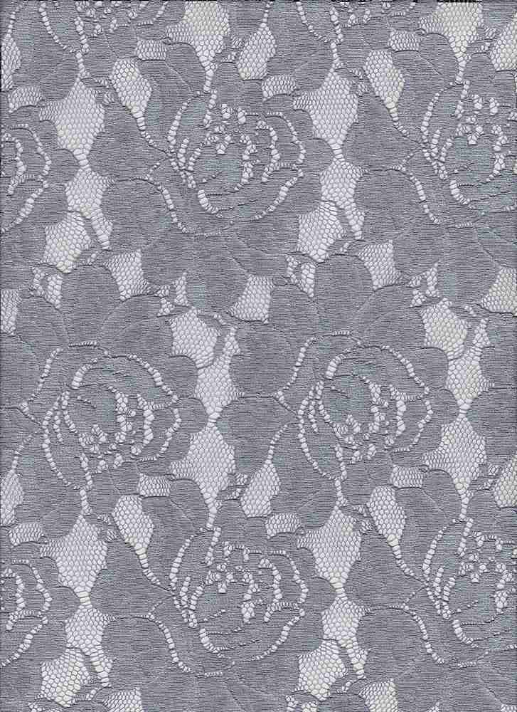X20010 / CHARCOAL GREY / TIE DYE ON ROSE LACE