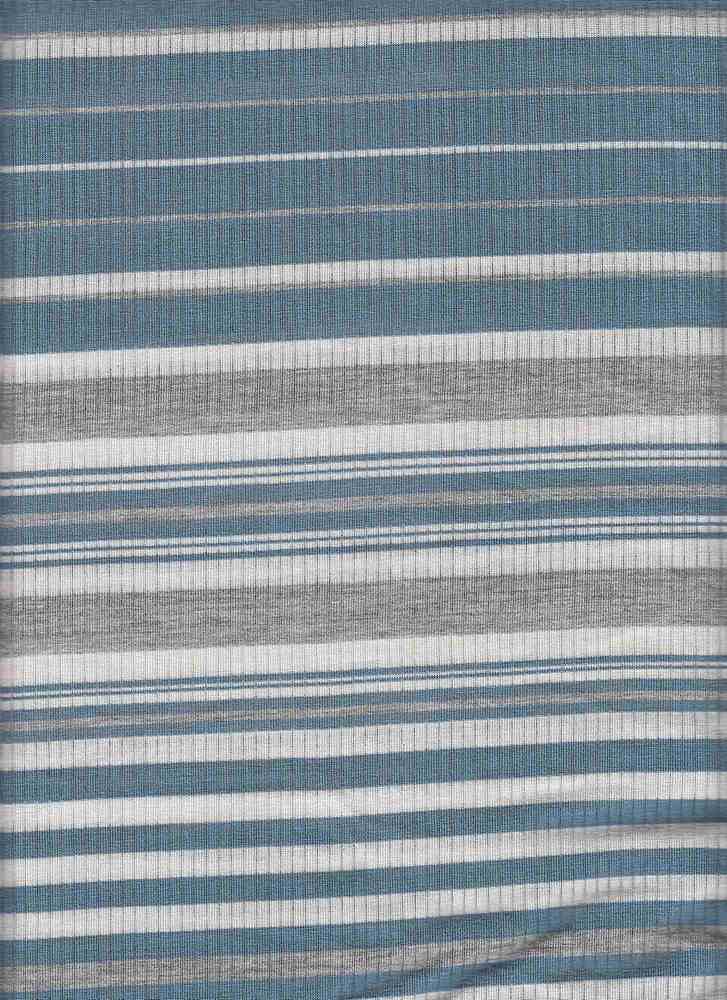 X20012 / BANDANA BLUE/H GREY/WHITE / 4X2 RIB STRIPE