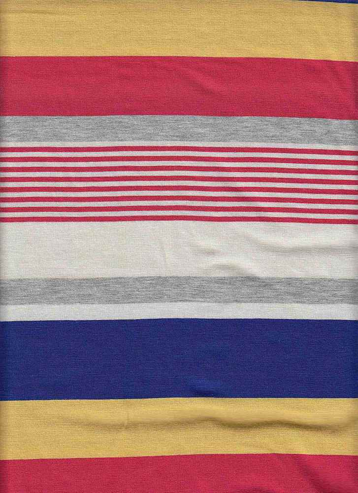 X20003 / BLUE/CORAL/YELLOW / AUTOMATIC STRIPE JERSEY