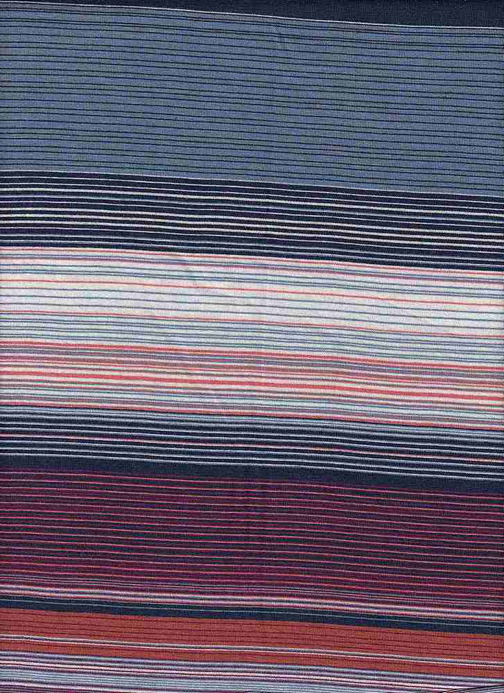 """X20005 / BLUE/NAVY/CORAL / AUTOMATIC FINE LINES JERSEY STRIPE 12 1/2"""""""