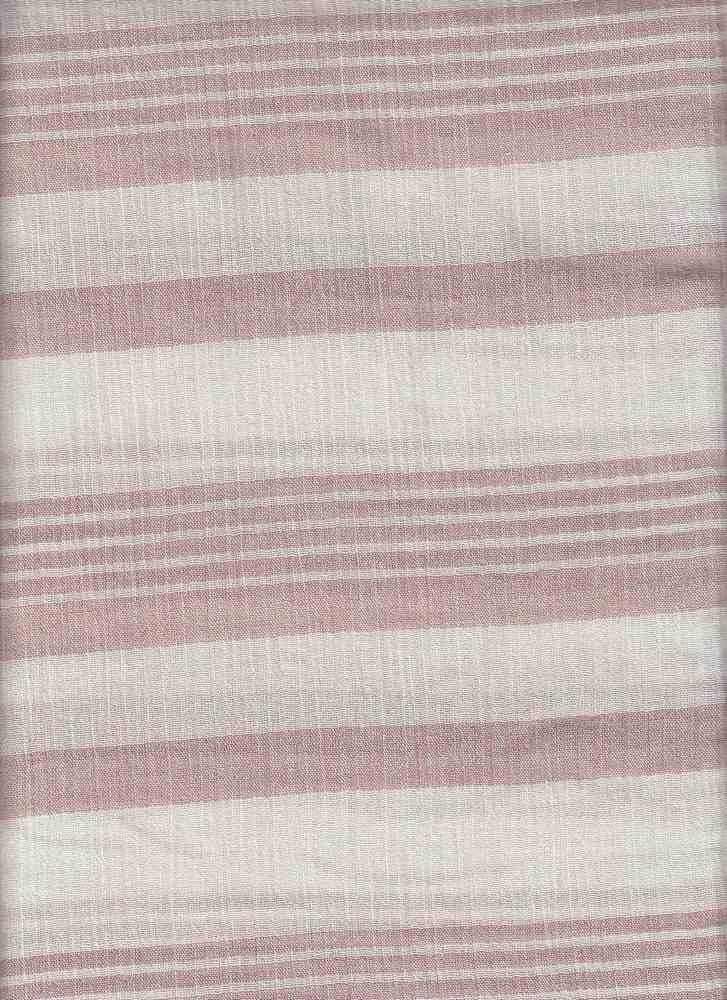 18376 / MAUVE/ANTIQUE WHITE / COTTON CREPE Y/D STRIPE
