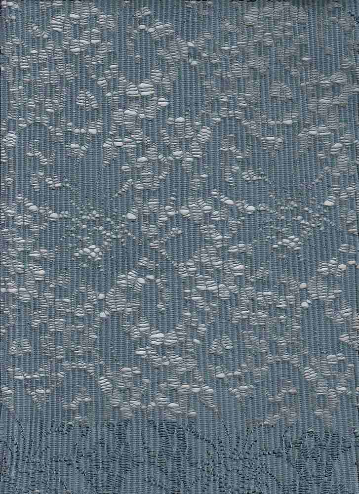 18391 / BLUE GRASS / POLY PLEATED CROCHET
